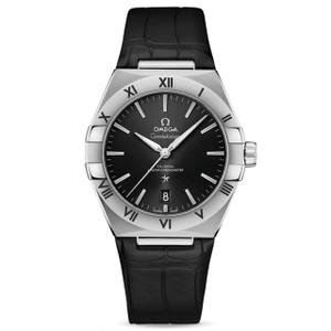 New Omega Constellation Master Chronometer 39 Black Dial on Strap