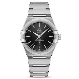 New Omega Constellation Master Chronometer 39 Black Dial on Bracelet