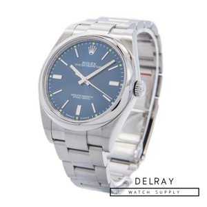 Rolex Oyster Perpetual Blue Dial 114300