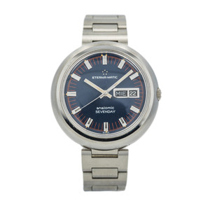 Eterna-Matic Anatomic Sevenday Dark Blue Dial