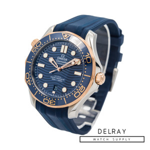 Omega Seamaster Diver 300M Co-Axial Master Chronometer *Blue Dial* *Box and Papers*