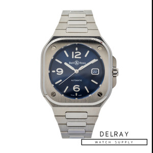 Bell & Ross BR 05 Blue Steel *Blue Dial* *Box and Papers*