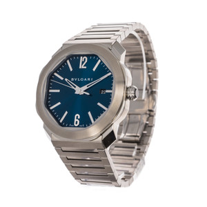 Bulgari Octo Roma 102856 *Box and Papers* *Blue Dial*