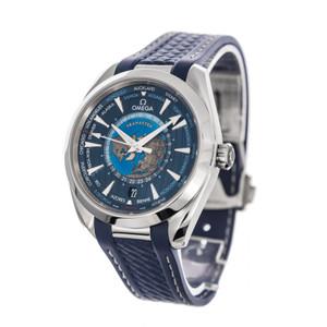 Omega Seamaster Aqua Terra Co-Axial Master Chronometer GMT Worldtimer 43mm *2020* *Blue Dial*