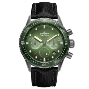 New Blancpain Fifty Fathoms Bathyscaphe Chronographe Flyback Green Dial