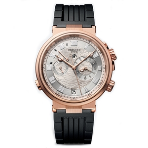 New Breguet Marine Alarme Musicale Rose Gold on Rubber Strap