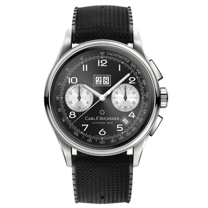 New Carl F. Bucherer Heritage Bicompax Annual Black Dial on Rubber Strap