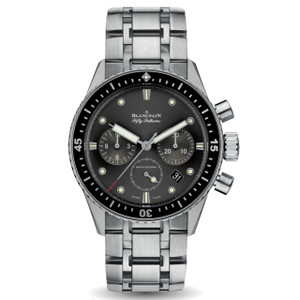 New Blancpain Fifty Fathoms Bathyscaphe Chronographe Flyback Grey Dial on Bracelet