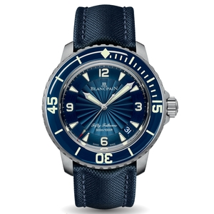 New Blancpain Fifty Fathoms Automatique Blue Dial Steel on Strap