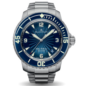 New Blancpain Fifty Fathoms Automatique Blue Dial Steel on Bracelet