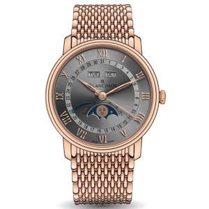 New Blancpain Villeret Quantième Complet Grey Dial Rose Gold on Bracelet