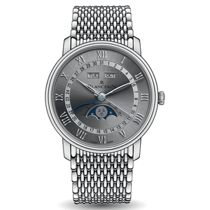 New Blancpain Villeret Quantième Complet Grey Dial Steel on Bracelet