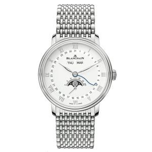 New Blancpain Villeret Quantième Complet White Dial Steel on Bracelet