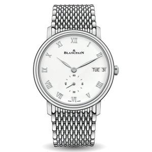 New Blancpain Villeret Jour Date White Dial Steel on Bracelet