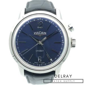 Vulcain 50s Presidents' Classic Cricket Alarm Blue Dial *UNWORN*