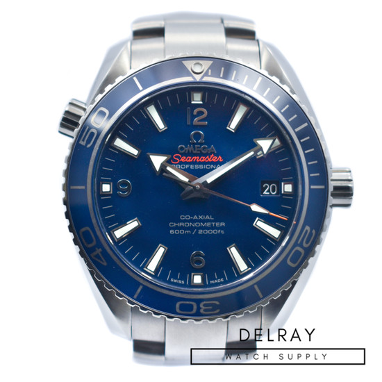 Omega Seamaster Planet Ocean Titanium Blue Dial *2019 Box and Papers*