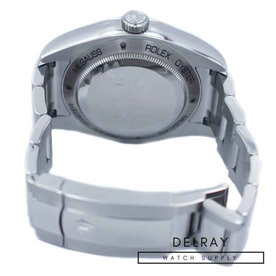 Rolex Milgauss 116400GV Green Crystal *2018 Warranty Card*