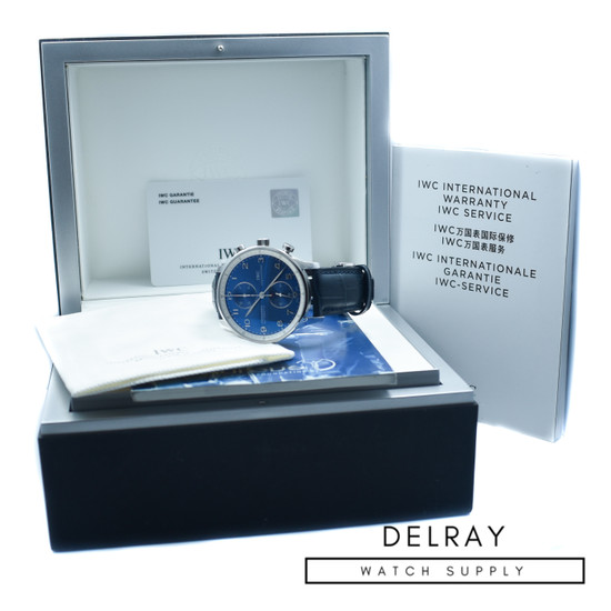 IWC Portuguese Chronograph Laureus Blue Dial *Limited Edition*