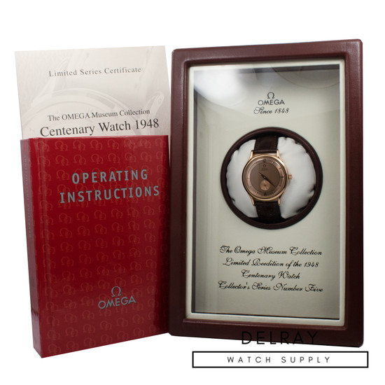 Omega Co-Axial Seamaster Museum Collection Centenary 1948 Salmon Dial *UNWORN*