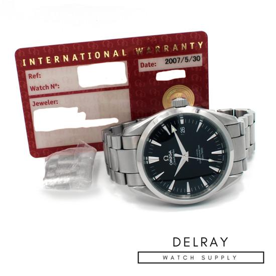 Omega Seamaster Aqua Terra with Papers