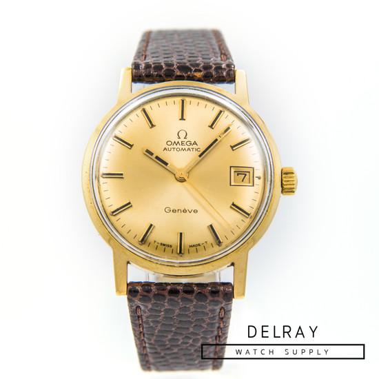 Vintage Omega Geneve Solid Gold