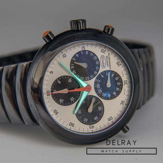 Ikepod Hemipode Black Chronograph GMT 2 *Rare*