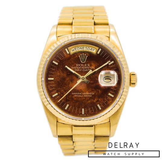 Rolex Day Date 18038 Burl Wood Dial *Rare*