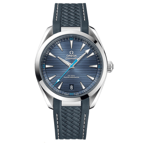 New Omega Seamaster Aqua Terra 150M Co-Axial Master Chronometer  41 Blue Dial on Strap