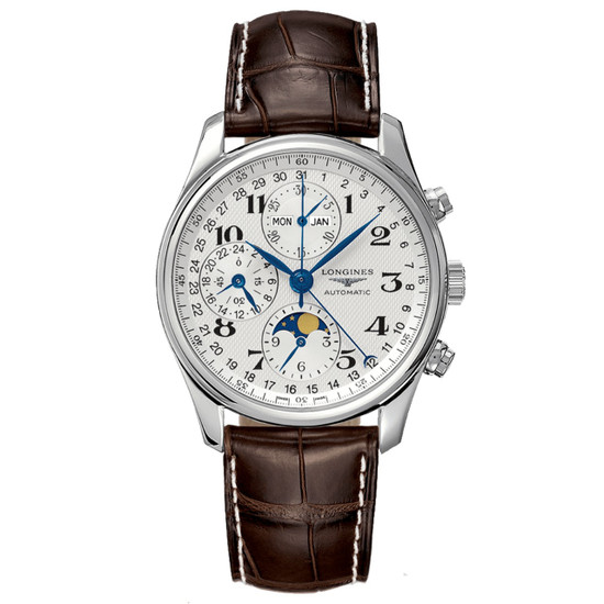 New Longines Master Collection Triple Calendar Chronograph 40 Silver Dial