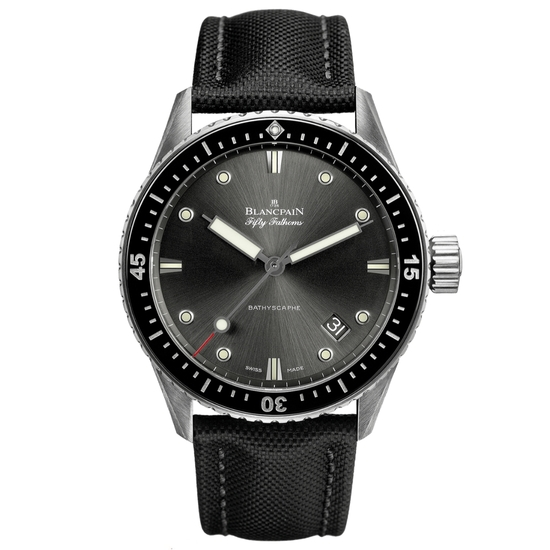 New Blancpain Fifty Fathoms Silver Dial