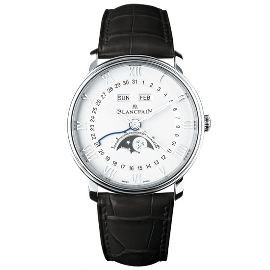 New Blancpain Villeret Complete Calendar Moonphase White Dial on Strap