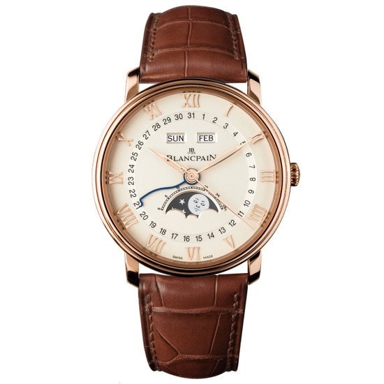 New Blancpain Villeret Moonphase White Dial Rose Gold