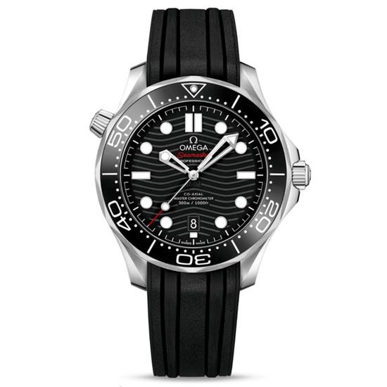 New Omega Seamaster Diver 300M Master Chronometer 42 Black Dial on Strap