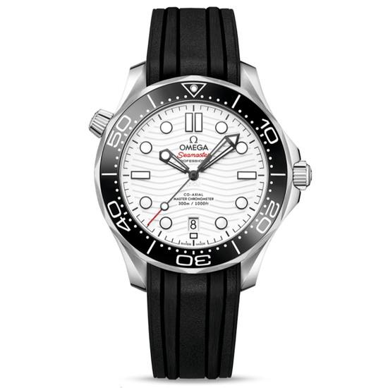 New Omega Seamaster Diver 300M Master Chronometer 42 White Dial on Strap