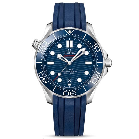 New Omega Seamaster Diver 300M Master Chronometer 42 Blue Dial on Strap