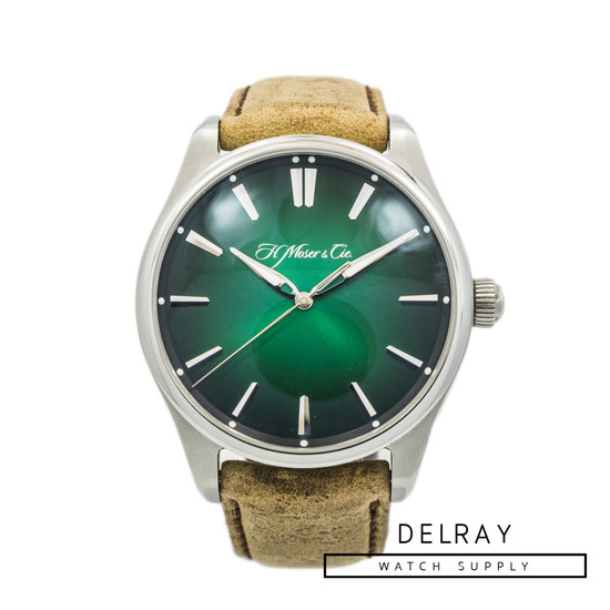 H. Moser & Cie Pioneer Centre Seconds Cosmic Green Fumé