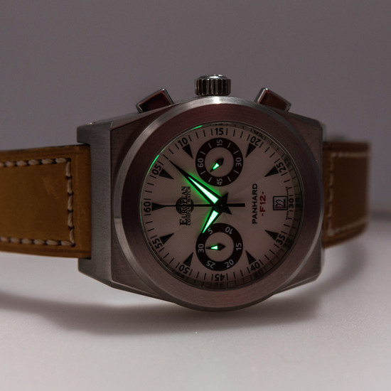 European Company Watch Panhard Chronograph F12 *Store Display*