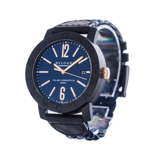 Bulgari BVLGARI BVLGARI Carbon Gold *Blue Dial* *Roma Boutique Edition*