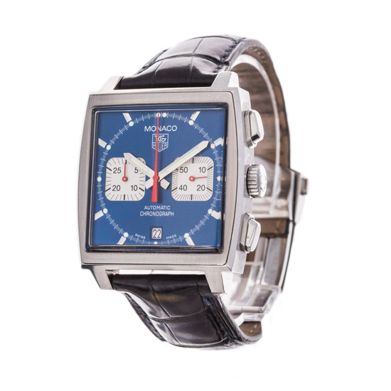 TAG Heuer Monaco Chronograph *Blue Dial* *Box and Papers*