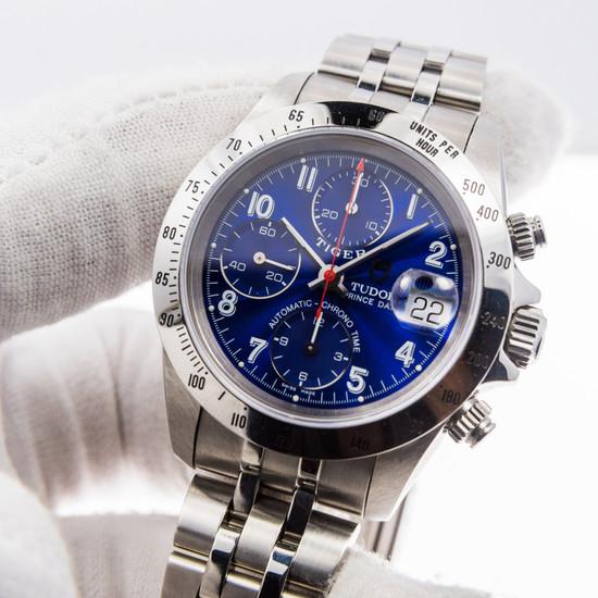 Tudor Prince Date 'Tiger' Chronograph 79280 *Blue Dial*