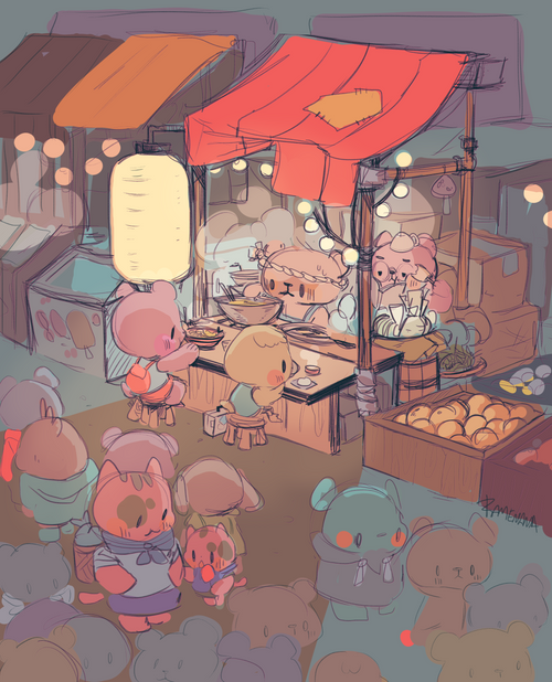 Nightmarket Postcard