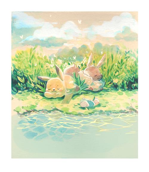 PikaEevee Postcard