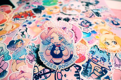 NyaNya Sparkle Sticker