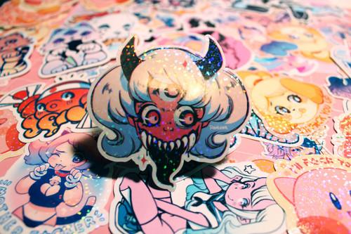Tiffany Teeth Sparkle Sticker