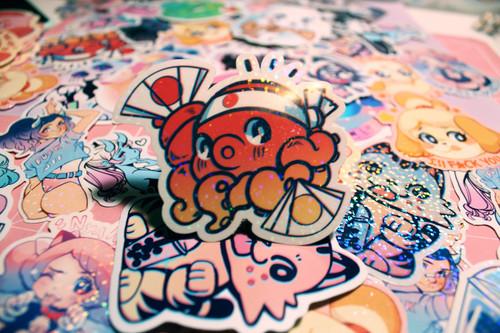 Octo Sparkle Sticker