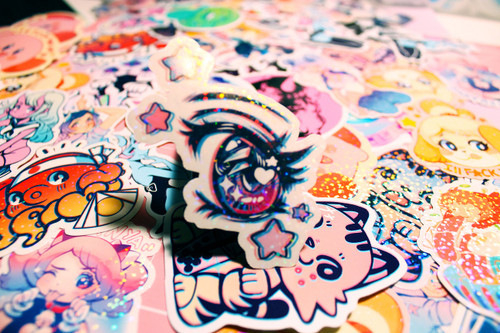 Anime Eye Sparkler Sticker