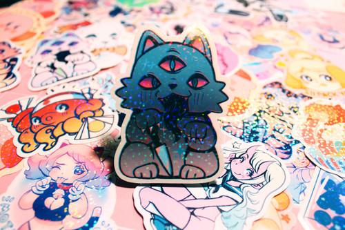 Evilcat Sparkle Sticker