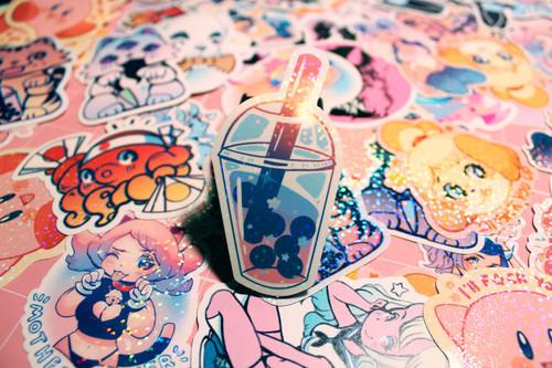 Boba Sparkle Sticker
