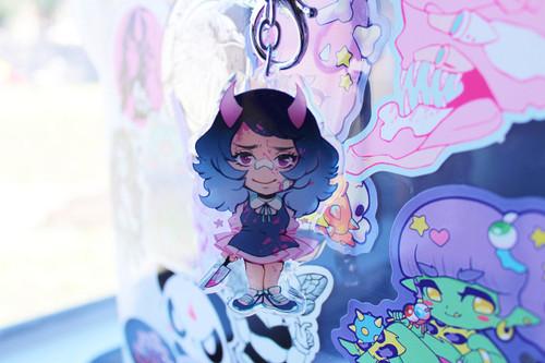 Mena Sparkle Acrylic Keychain