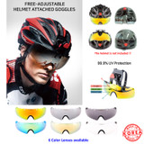 Winbees Sports Sunglasses/Goggle, Attachable Helmet Sunglasses Over Eyeglasses For Any Helmet Sports